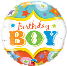 'Birthday Boy' Circus Foil Balloon